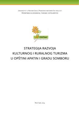 strategija razvoja kulturnog i ruralnog turizma u opštini