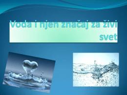 voda i njen značaj