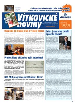 prosinec 2011 - Vítkovice, a.s.