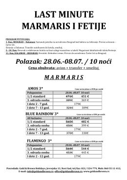 Marmaris Last Minute 28.06. br.2
