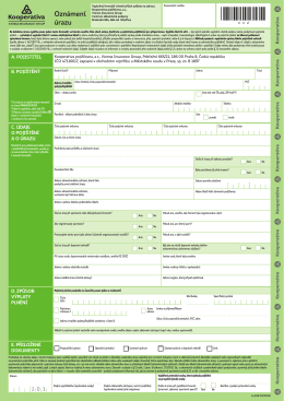 Oznámení úrazu - Kooperativa, pojišťovna, a.s.