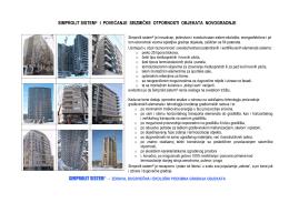 simprolit sistem® i povećanje seizmičke otpornosti objekata