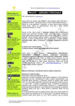 stáhnout v pdf - NEUROL