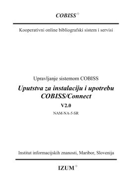 3. Kompletno uputstvo za instalaciju i upotrebu programa Connect