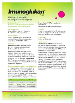 Uputstvo za upotrebu Imunoglukan P4H® kapsule