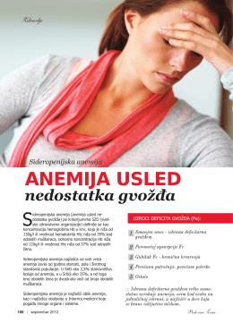 ANEMIJA USLED - Dynamic Medic