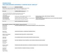 program rada treće međunarodne konferencije ``sportske - SiZ-AU