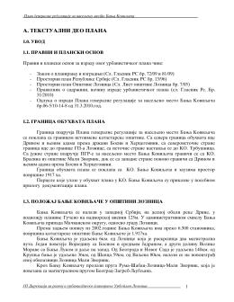 Nacrt plana generalne regulacije Banja Koviljaca