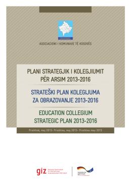 plani strategjik i kolegjiumit për arsim 2013