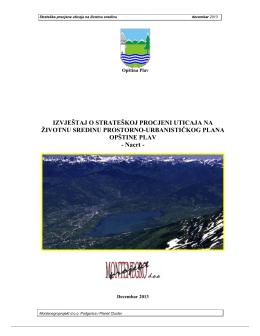 izvještaj o strateškoj procjeni uticaja na životnu sredinu prostorno