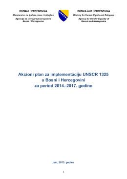 Akcioni plan za implementaciju UNSCR 1325 u Bosni i Hercegovini