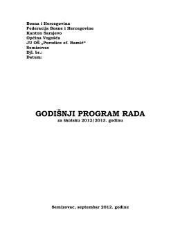 Godišnji u pdf - OŠ Porodice ef. Ramić