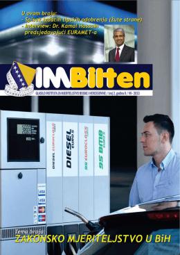 IMBilten drugo izdanje - Institut za mjeriteljstvo Bosne i Hercegovine