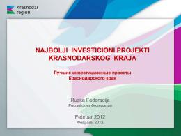 Инвестиционный потенциал Краснодарского края