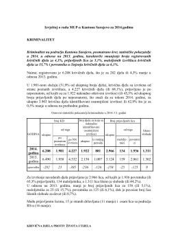 Izvještaj o radu MUP-a Kantona Sarajevo za 2014.godinu