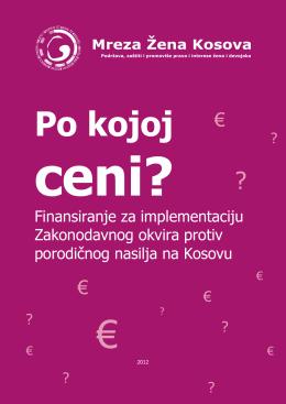 porodičnog nasilja na Kosovu 2012