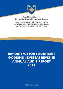 Raporti Vjetor i Auditimit - Zyra e Auditorit të Përgjithshëm