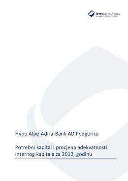 Interni kapital, 2012 - Hypo Alpe Adria Crna Gora