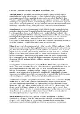 Hodnocení vítězných prací, PhDr. Martin Šimsa, PhD.