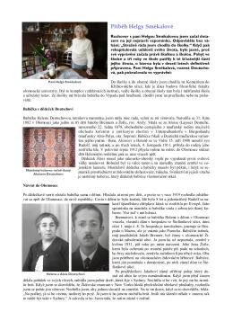 Příběh Helgy Smékalové - Židovská obec Olomouc