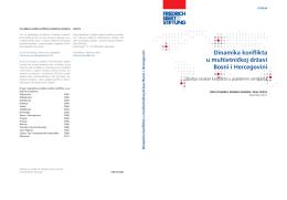 Dinamika konflikta u multietničkoj državi Bosni i Hercegovini : studija