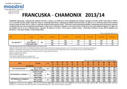 francuska - chamonix 2013/14 - Turisticka agencija Maestral Novi Sad