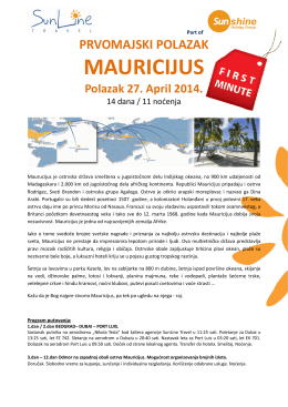 SunLine Travel, Mauricijus
