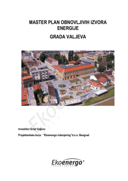 Master plan obnovljivih izvora energije grada Valjeva