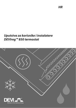 Uputstva za korisnike i instalatere DEVIreg™ 850