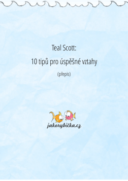 Teal - 10 tipů pro vztahy