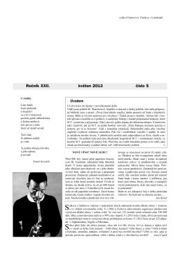 Okénko do farnosti 5/2013 (formát pdf) - Farnost Letohrad