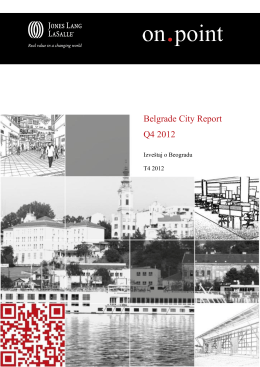 Belgrade City Report Q4 2012 Final