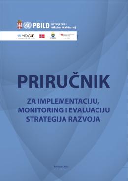 Priručnika za implementaciju, monitoring i evaluaciju strategija razvoja