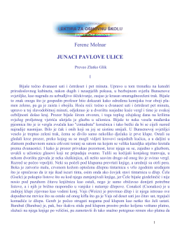Ferenc Molnar JUNACI PAVLOVE ULICE