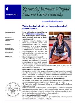 Zpravodaj Institutu Satirové 4 - prosinec 2013