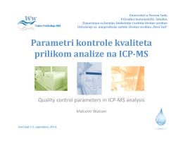 Parametri kontrole kvaliteta prilikom analize na