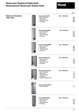 Proizvođači i rezervoari sanitarne tople vode
