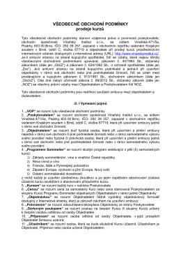 Obchodní podmínky - Vinařský Institut České republiky