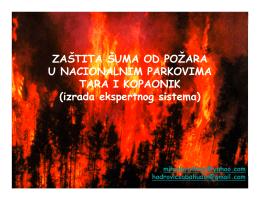 Zaštita šuma od požara u NP TARA i NP KOPAONIK