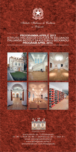 programma aprile 2013 program april 2013.