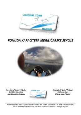 Ponuda gliding tima za PDF - Turistička organizacija opštine Prijedor