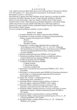 1 ZAPISNIK sa 02. sjednice Upravnog odbora Šahovskog saveza