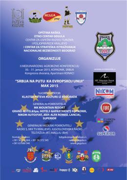 """ORGANIZUJE """"SRBIJA NA PUTU KA EVROPSKOJ UNIJI"""" MAK 2015"""