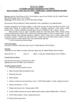 Zápis ze zasedání zastupitelstva 3/2014
