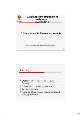 Tržište osiguranja Republike Srpske na putu uređenja