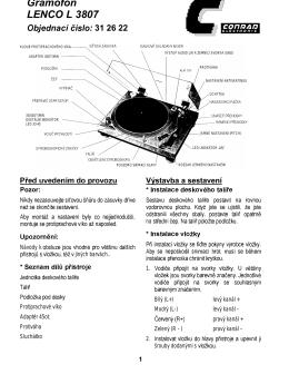 Gramofon LENCO L 3807 - produktinfo.conrad.com