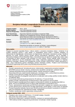 Socijalna inkluzija i unapređenje životnih uslova Roma u