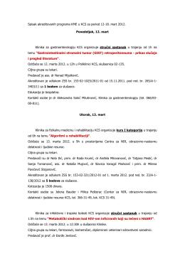 Spisak akreditovanih.. - Dom zdravlja Obrenovac