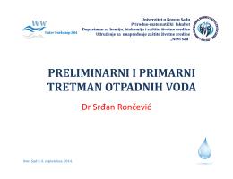 Predtretman i primarni tretman otpadnih voda, dr