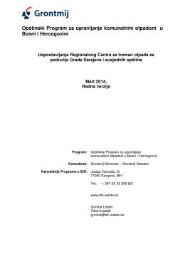 Opštinski Program za upravljanje komunalnim otpadom u Bosni i